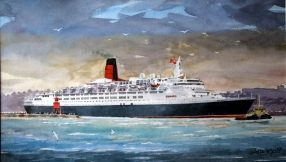 QE2 Leaves Tyne